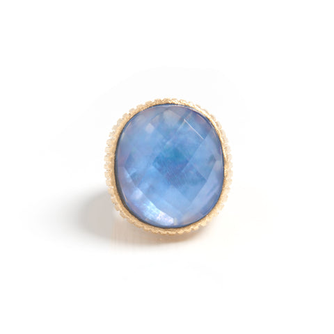 Doublet Oval Cocktail Ring