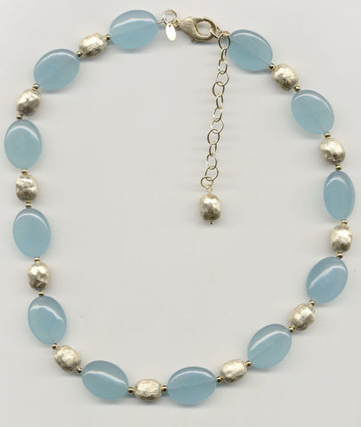 Caribbean Blue Quartzite Necklace - Closeout