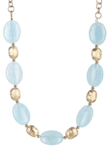 "Caribbean Blue Quartzite 20"" Necklace - Closeout"
