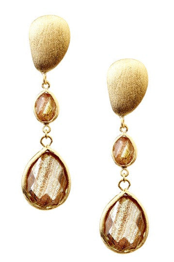 Rutilated Double Drop Earrings
