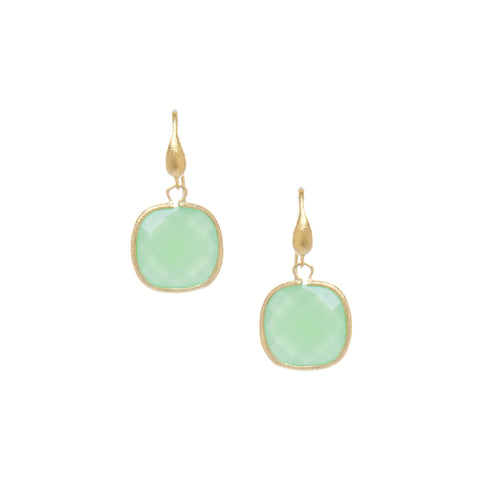 Midori Cushion Cut Dangle Earrings