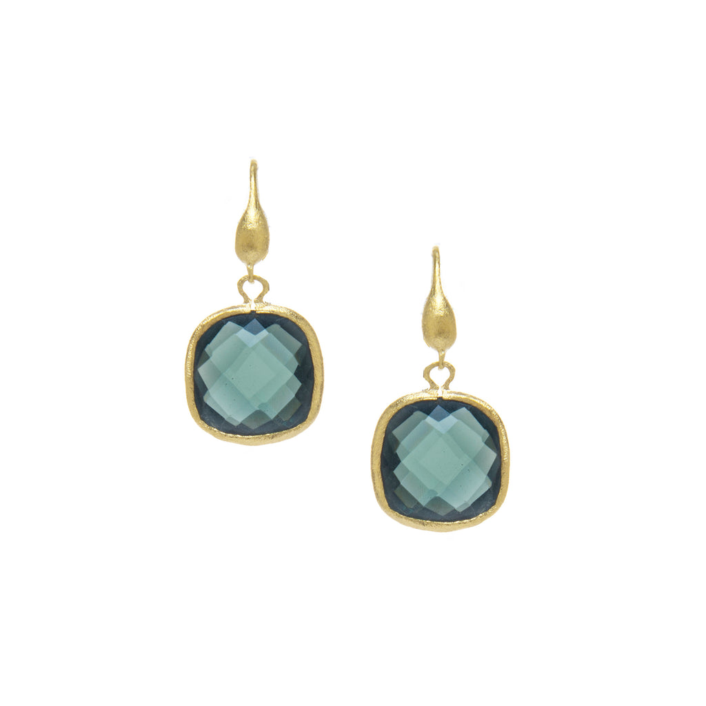 Mystic Cushion Cut Dangle Earrings