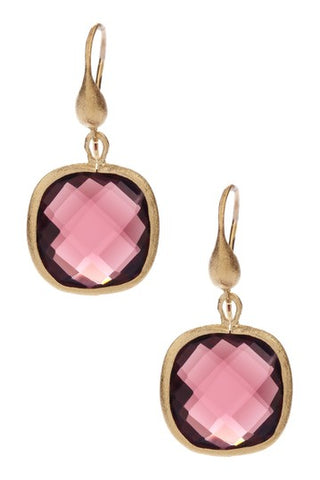 Tourmaline Cushion Cut Dangle Earrings