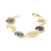 Labradorite + Satin Pebble Bracelet