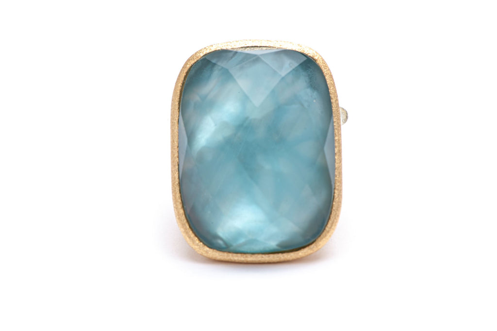 Denim Doublet Cocktail Ring + Side Accent
