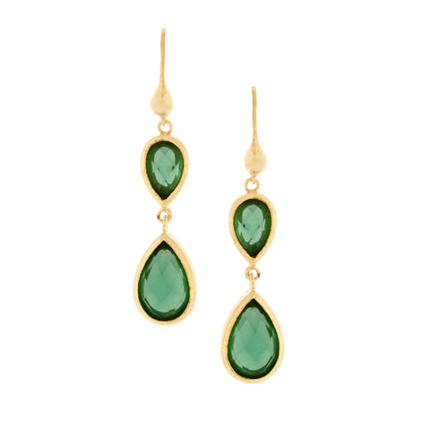 Capri Double Dangle Teardrop Earrings