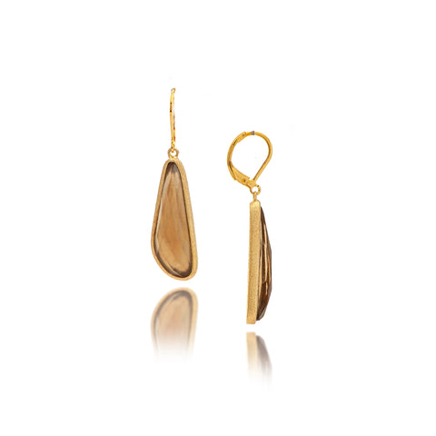 Smokey Lever Back Earrings