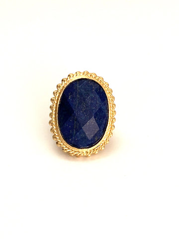 Lapis Oval Cocktail Ring - Closeout