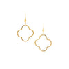 Polished Clover Drop Earrings