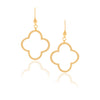 Satin Clover Drop Earrings