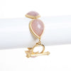 Rose Quartz Station Toggle Bracelet - Closeout