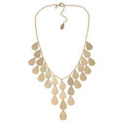 Satin Teardrop Bib Necklace
