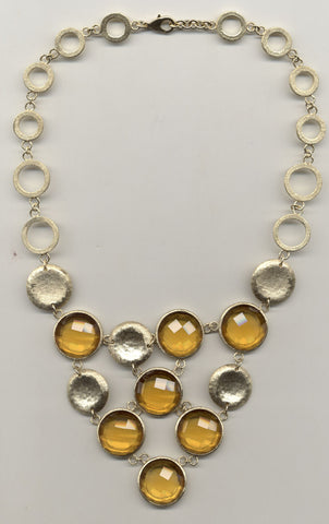 Citrine Crystal Statement Necklace - Closeout