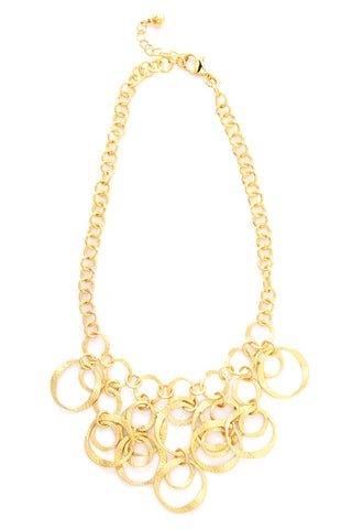 Satin Cascading Bib Necklace