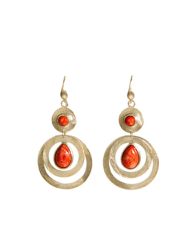 Coral Earrings - Closeout