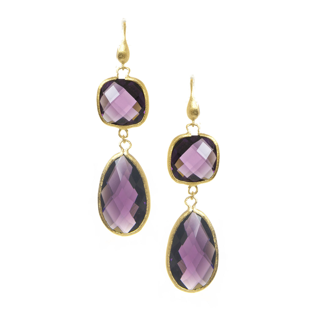 Amethyst Double Dangle Earrings