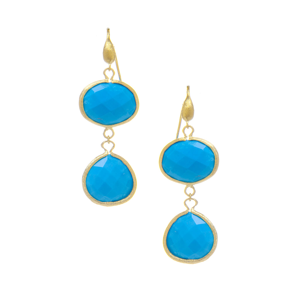 Magnesite Double Dangle Earrings