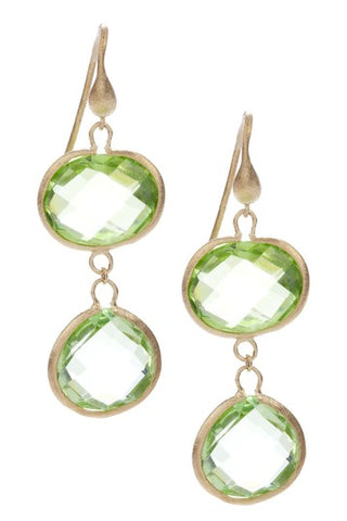 Apple Green Double Dangle Earrings