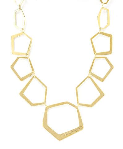 Polished Deco Shaped Necklace
