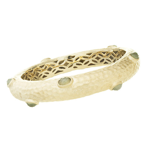 New Jade Hammered Bangle