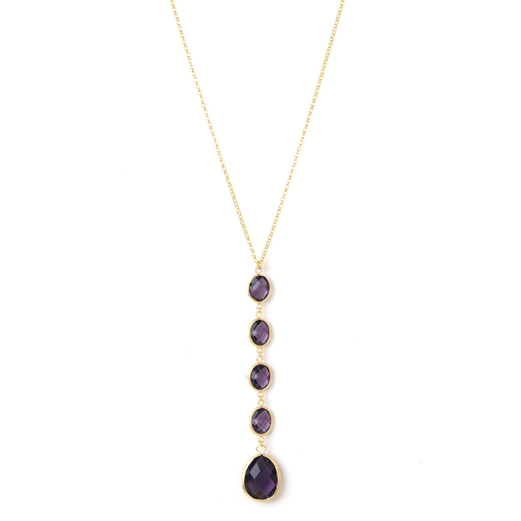 "Amethyst ""Y"" Necklace"