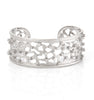 Scattered Simulated Diamond Rhodium Cuff
