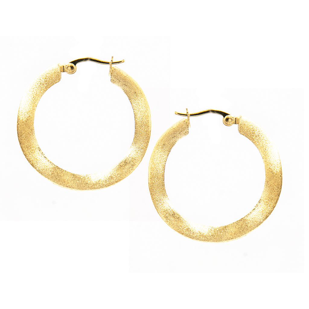 "Wavy Satin 1"" Hoop Earrings"
