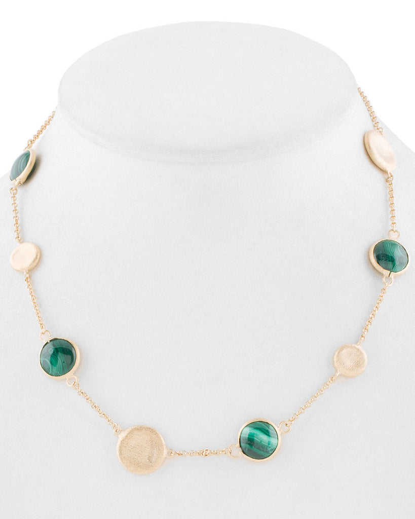 Malachite Station Necklace - Closeout