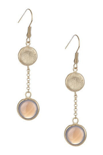 Chalcedony Round Drop Earrings - Closeout