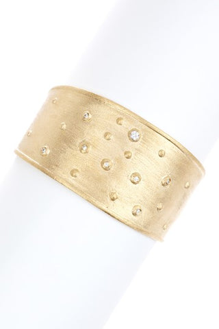 Simulated Diamond Accent Cuff Bracelet