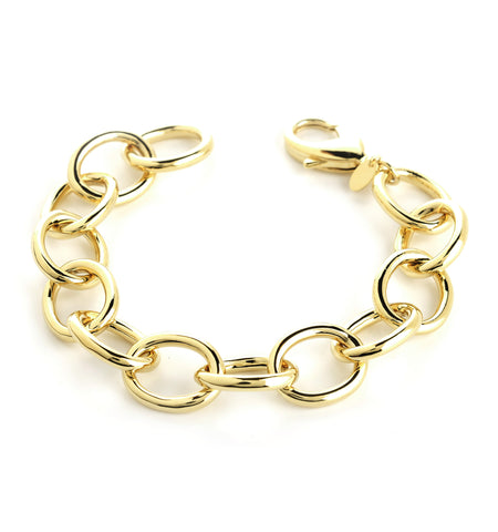 Polished Oval Link Bracelet