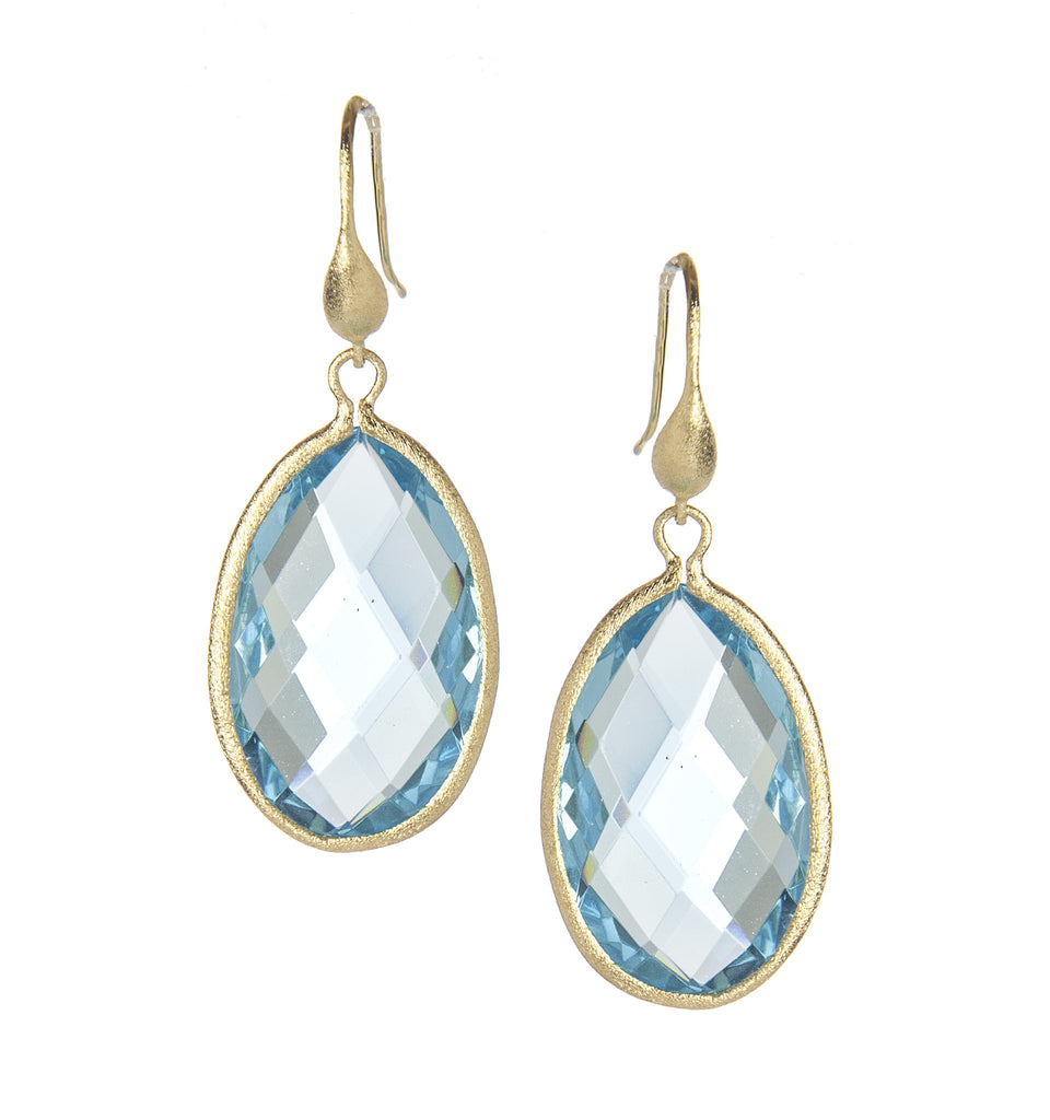 Sky Blue Teardrop Dangle Earrings