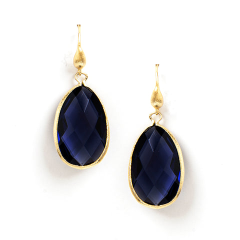 Iolite Teardrop Dangle Earrings