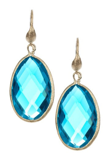 London Blue Teardrop Dangle Earrings