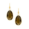 Smokey Faceted Bezel Set Dangle