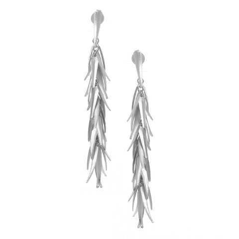 Rhodium Signature Chili Earrings