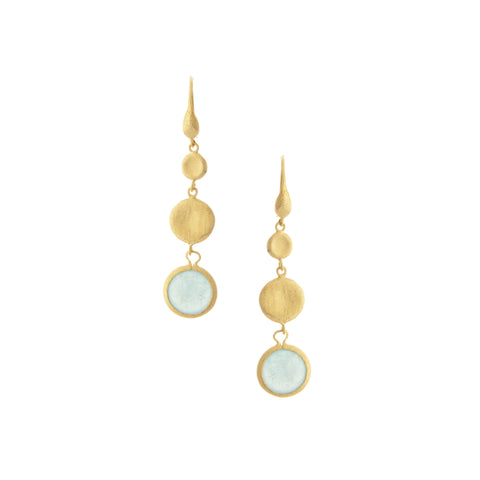 Caribbean Quartzite Circle Dangles