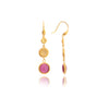 Cat's Eye Raspberry Circle Dangles