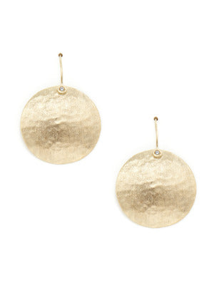 Textured Disc + Simulated Diamond Accent Earrings