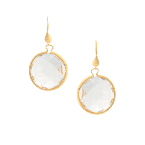 Rock Crystal Round Drop Earrings