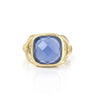 Blue Onyx Split Shank Ring