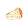 Orange Cat's Eye Twisted Shank Ring