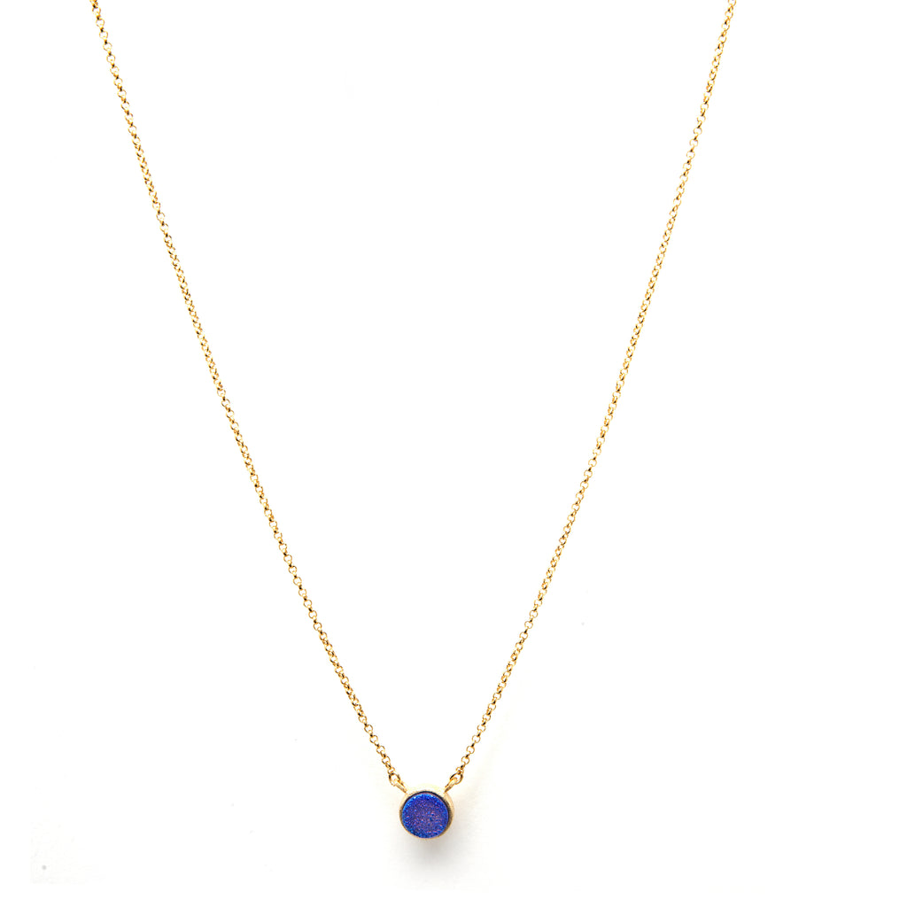 Purple Druzy Quartz Necklace