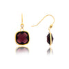 Tourmaline Cubic Zirconia Cushion Dangle Earrings