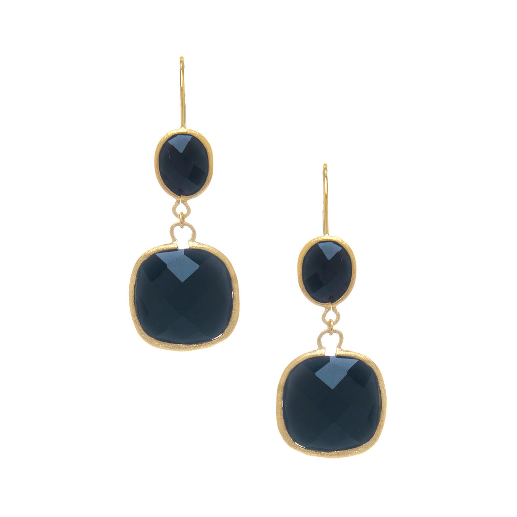 Onyx Double Dangle Earrings