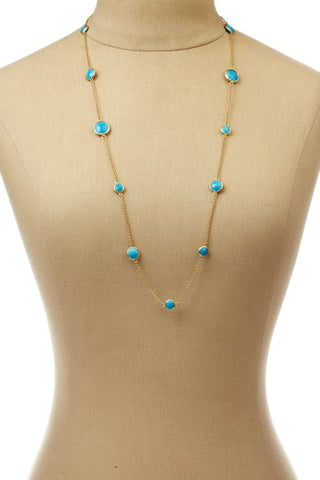 "Magnesite 28"" Station Necklace - Closeout"