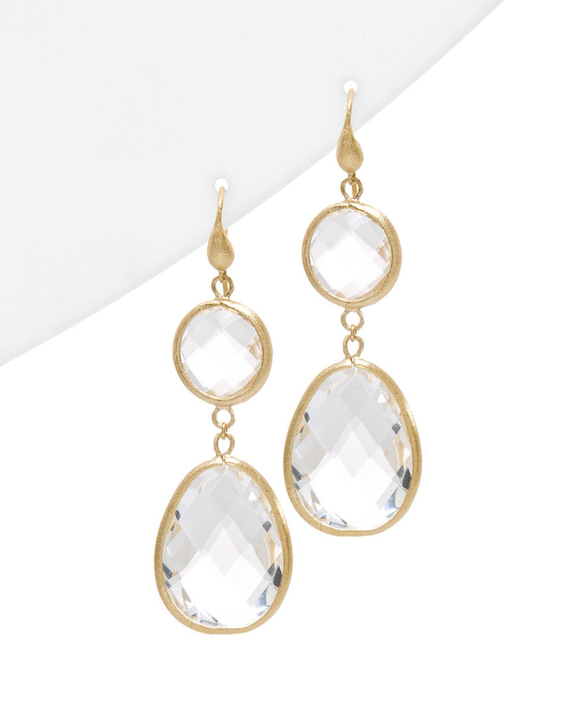 Rock Crystal Double Dangle Earrings