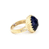 Iolite + Cubic Zirconia Accent Cocktail Ring