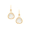 Rock Crystal Teardrop + Simulated Diamond Accent Earrings