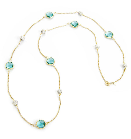 Capri + Simulated Diamond Station Necklace
